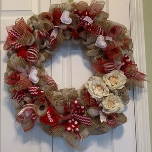 Valentine's Day handmade wreath